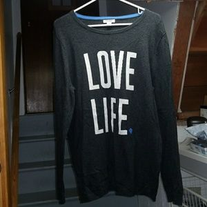 """Old navy """"love life """"sweater."""